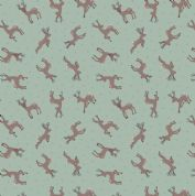 Lewis & Irene - Small Things Country Creatures - 6145 - Deer on Green  - ASM11.2 - Cotton Fabric